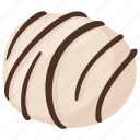 assorted chocolate, chocolate candy, dessert, praline chocolate, white chocolate candy icon