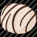 assorted chocolate, chocolate candy, dessert, praline chocolate, white chocolate candy icon