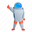 astronaut, man, star, thumb, up
