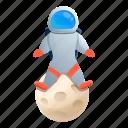 astronaut, child, globe, moon, star