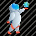 astronaut, baby, earth, hand, keep