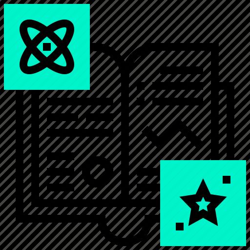 book, formula, manual, star icon