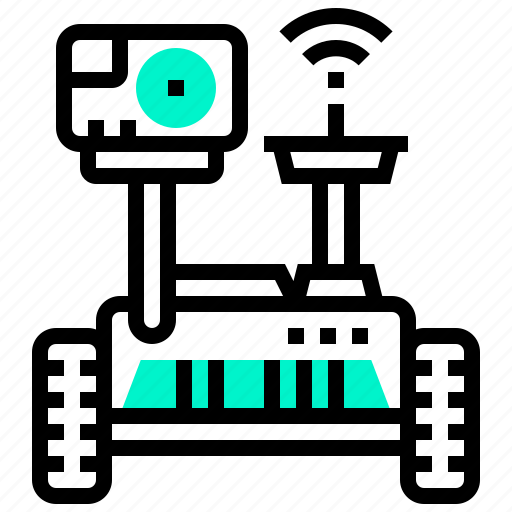 isolated, robot, robotic, rover, space icon
