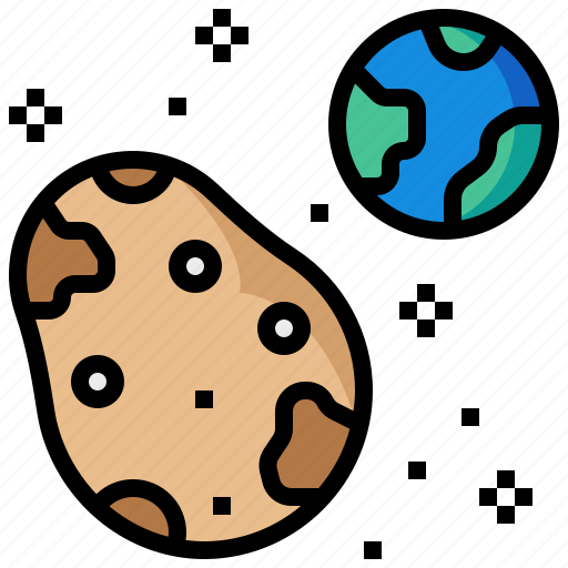 asteroid, comet, earth, star, world icon