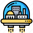 astronautic, building, colony, space icon