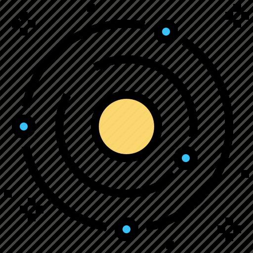 galaxy, solar, space, system icon