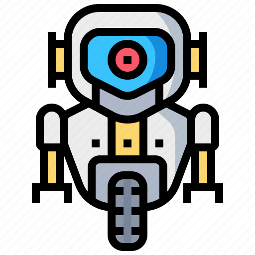 mechanical, robot, robotic, space icon