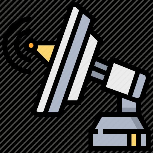 broadcast, communication, dish, satellite, space icon
