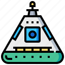 capsule, space, spacecraft, spaceship icon