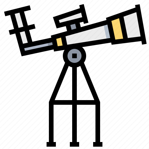 astronautic, observe, space, telescope icon