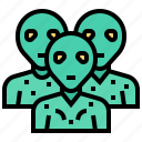 alien, extraterrestrial, paranormal, population, space icon