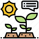 biological, ecology, environment, experiments, plant icon