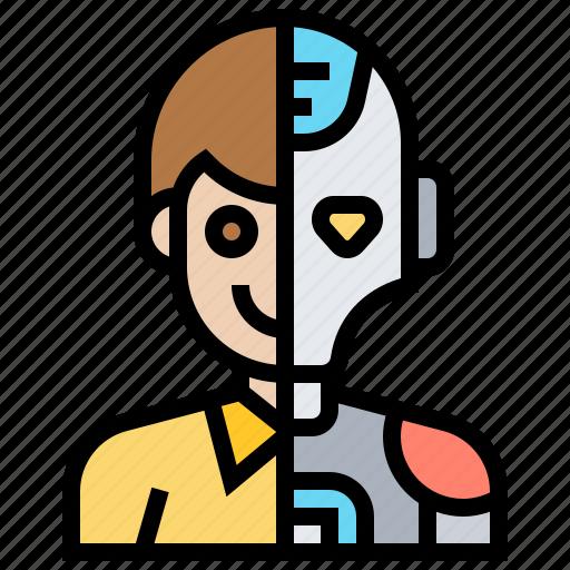disguise, human, humanoid, intelligent, robot icon
