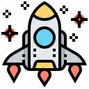 launch, rocket, shuttle, space, spacecraft icon