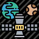 earth, orbit, satellite, space, station icon