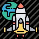astronaut, launch, rocket, shuttle, spaceship icon