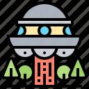 abduction, alien, invasion, spacecraft, ufo icon