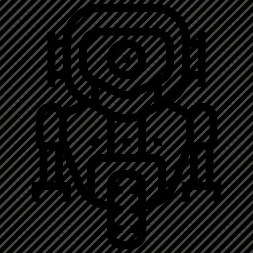 mechanical, robot, robotic, space icon
