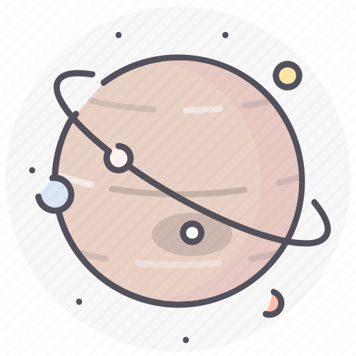 astronomy, jupiter, planet, space, universe icon