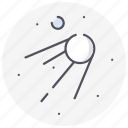 astronomy, planet, space, sputnik, universe icon