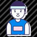 athlete, male, sport icon