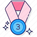 3rd place, award, bronze, medal icon