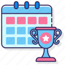 calendar, championship, competitions, date