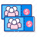 group, prices, ticket icon