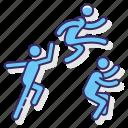jump, jumping, sport, triple icon