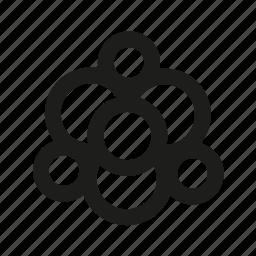 atom, chemistry, math, science icon