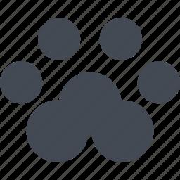 animal paw, cat, cats, paw icon