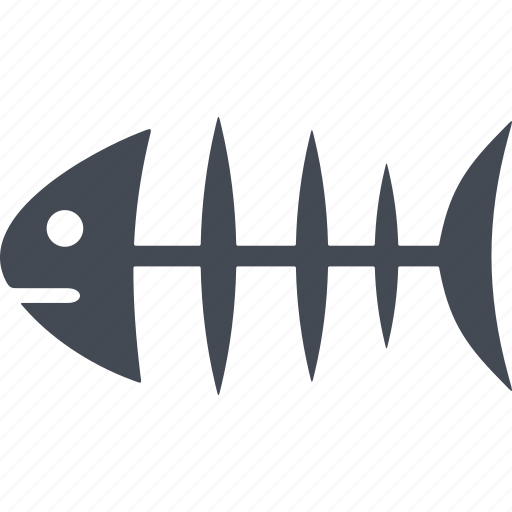 bones, cats, feed, fishbone icon