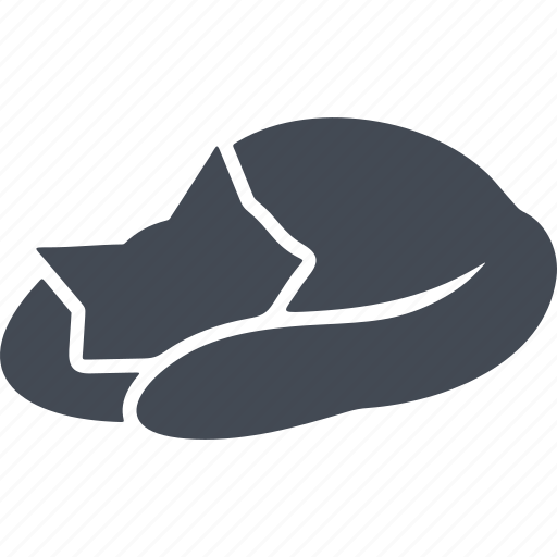 cat, cats, pet, sleeping cat icon