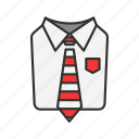 business attire, formal attire, men's attire, suit and tie icon