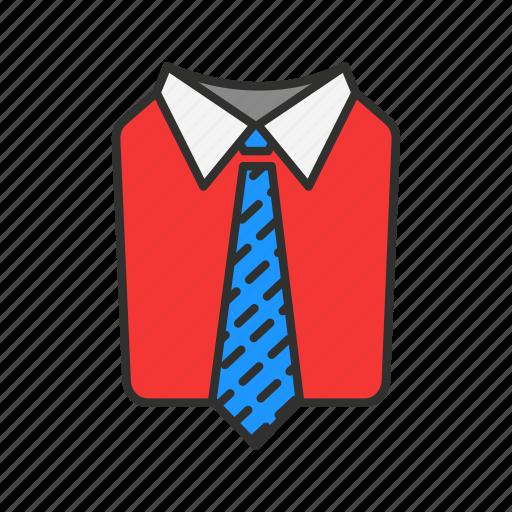 business attire, formal attire, men's attire, suit and tie icon