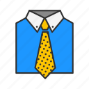 attire, business men, formal attire, suit and tie icon