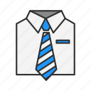 business attire, formal attire, men's attire, suits and tie icon