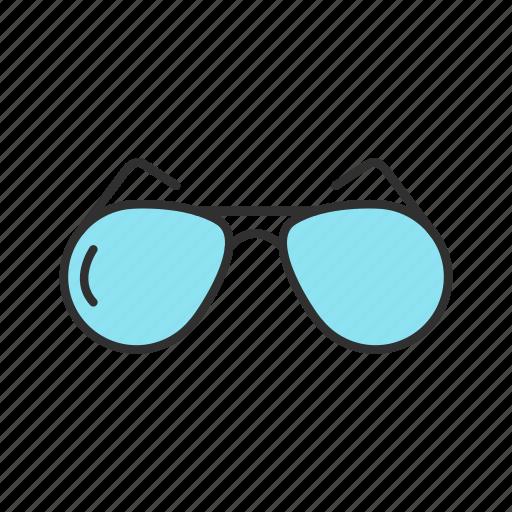 aviator glasses, eyewear, summer, sunglasses icon