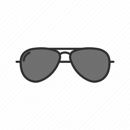 aviator glasses, eyewear, summer, sunglasses icon