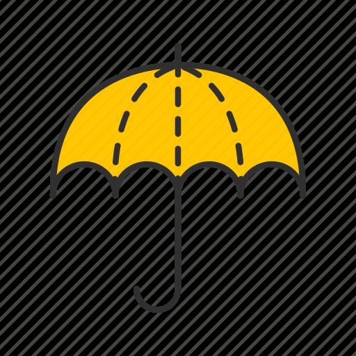 rainy, sunny, umbrella, weather icon