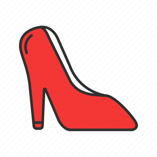 heels, high heels, red shoes, women's shoes icon