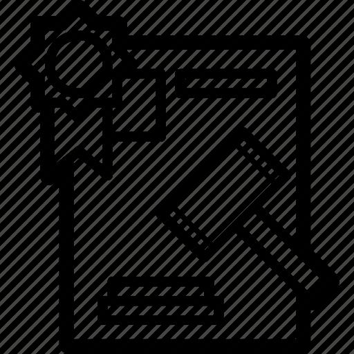 auction, auction paper, document, law, legal icon