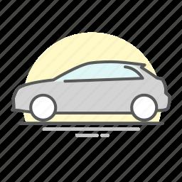 audi, car, line icon, transportation, vehicle icon