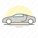audi, car, line icon, transportation, vehicle icon