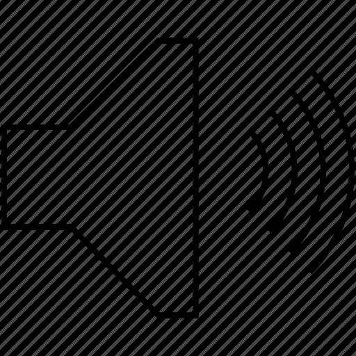 audio, control, music, player, sound, speaker, voice, volume icon