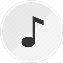 audio, media, music, note, online icon