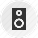 audio, media, music, online, speaker icon