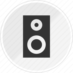 audio, media, music, online, speaker icon