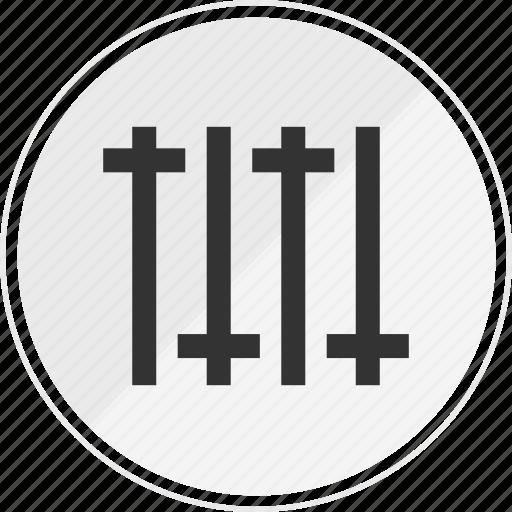 adjust, media, music, online, volume icon