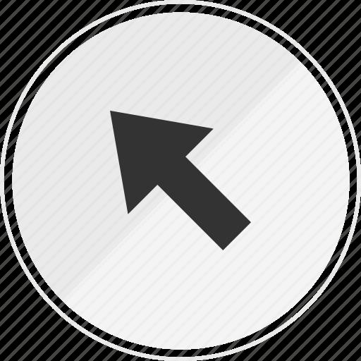 arrow, click, media, music, online icon